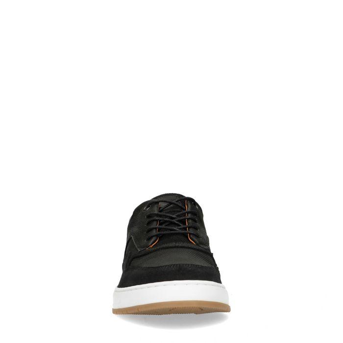 Schwarze Sneaker aus Rau- und Glattleder
