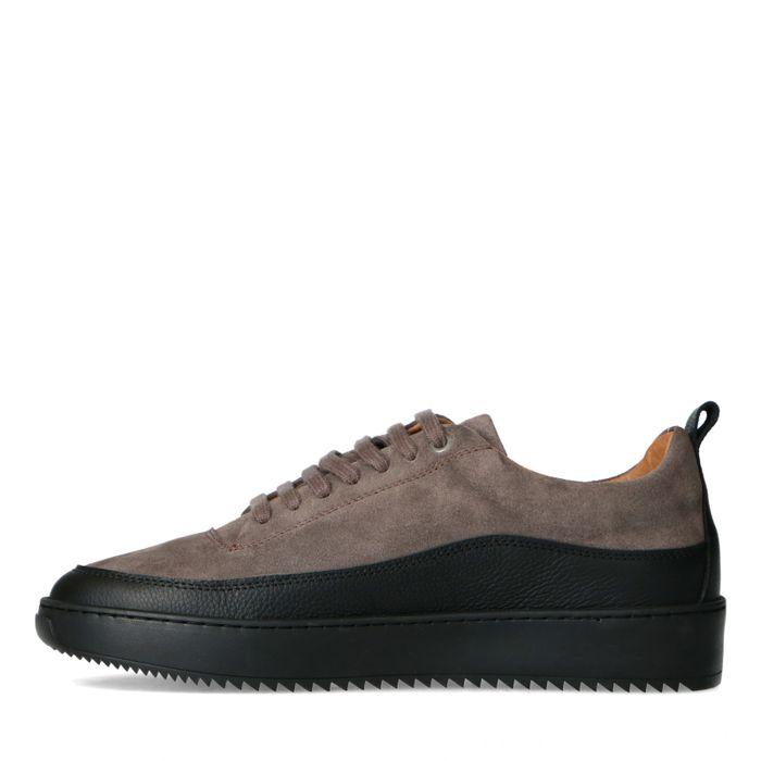Graue Ledersneaker