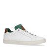 Weiße Sneaker mit grünem Detail