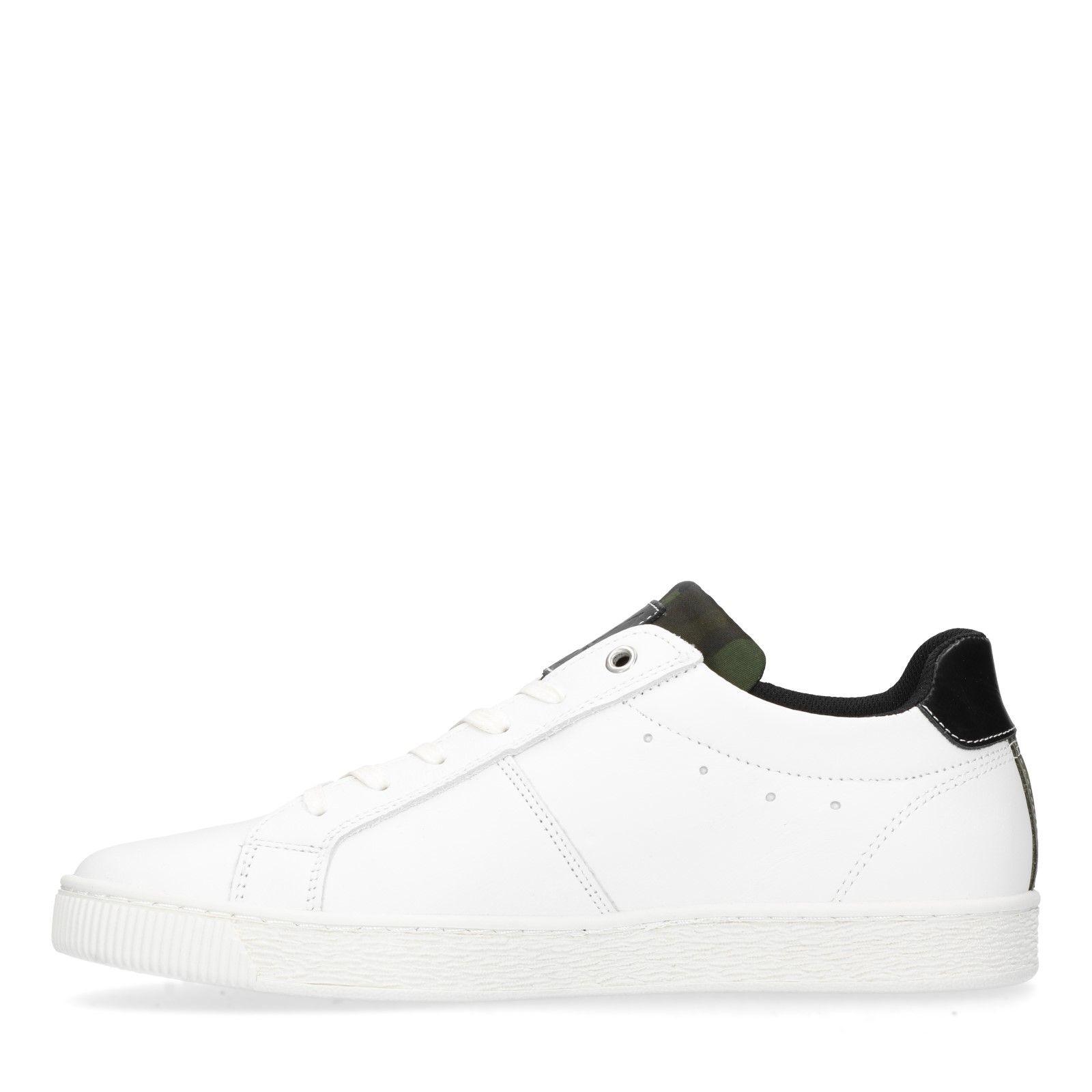 Sacha Weiße Sneaker mit schwarzen Details