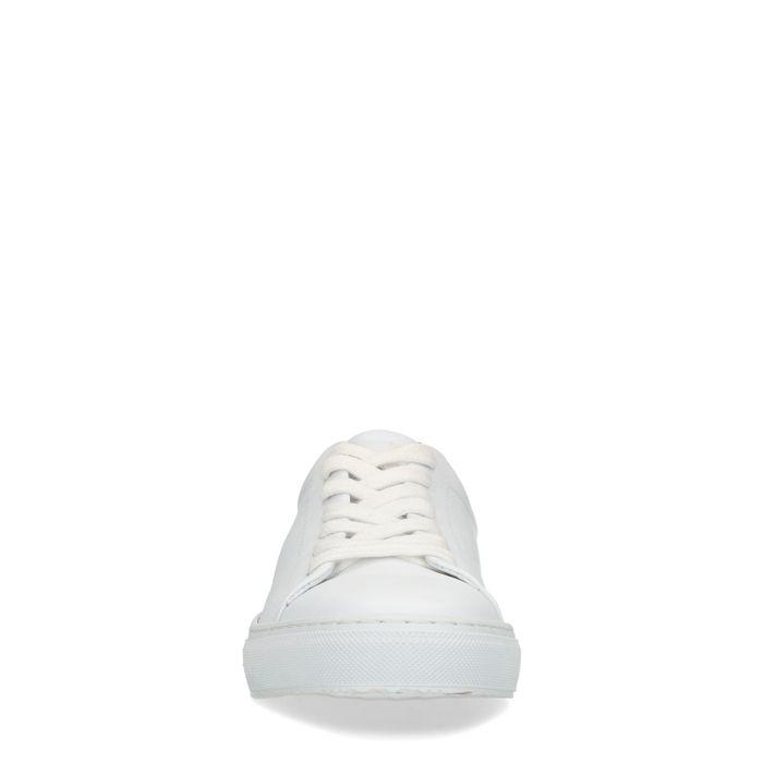 Weiße Sneaker mit Karo-Detail