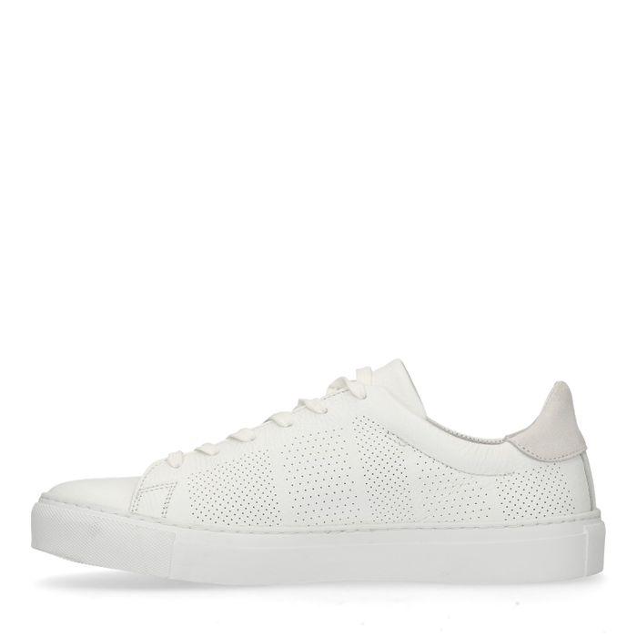 Weiße Leder-Sneaker