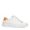 Weiße Sneaker mit orangefarbenen Detail