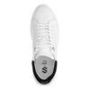 Weiße Sneaker mit schwarzem Detail