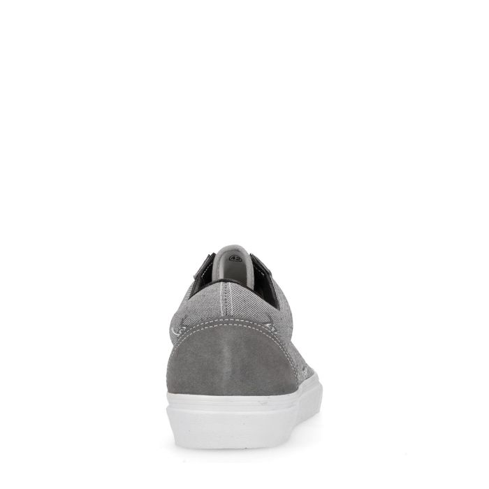 Graue Sneaker mit Fisch-Aufdruck