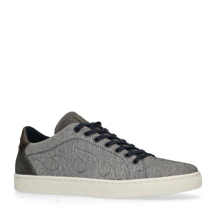 Graue Leinen-Sneaker