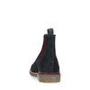 Dunkelblaue Chelsea-Boots aus Nubukleder