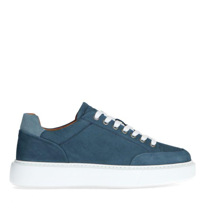 Blaue Nubuk-Sneaker