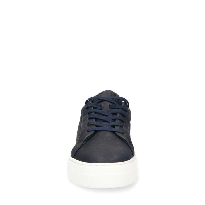 Marineblaue Nubuk-Sneaker
