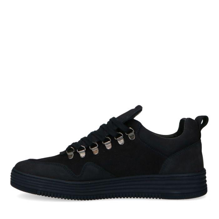 Dunkelblaue Nubuk-Sneaker
