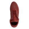 Bordeauxrote Sneaker mit hohem Schaft