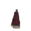Bordeauxrote Chelsea-Boots aus Nubukleder