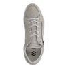 Graue Sneaker aus Nubukleder