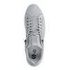 Hellgraue Nubuk-Sneaker