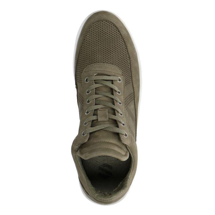 Grüne Sneaker mit hohem Schaft