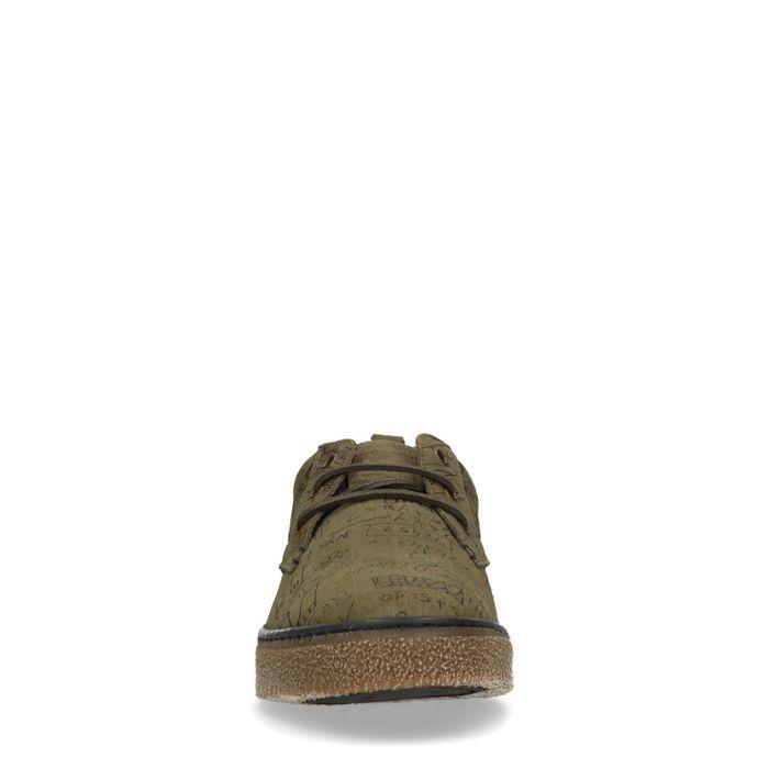 Grüne Sneaker mit Text-Aufdruck