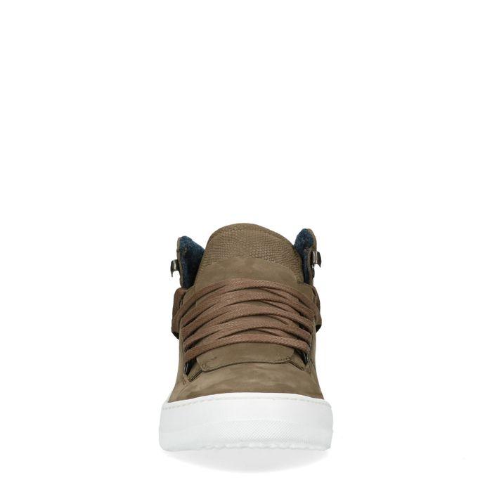Grüne High-Top-Sneaker mit Details