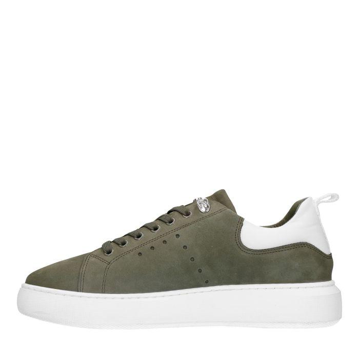 Grüne Nubuk-Sneaker