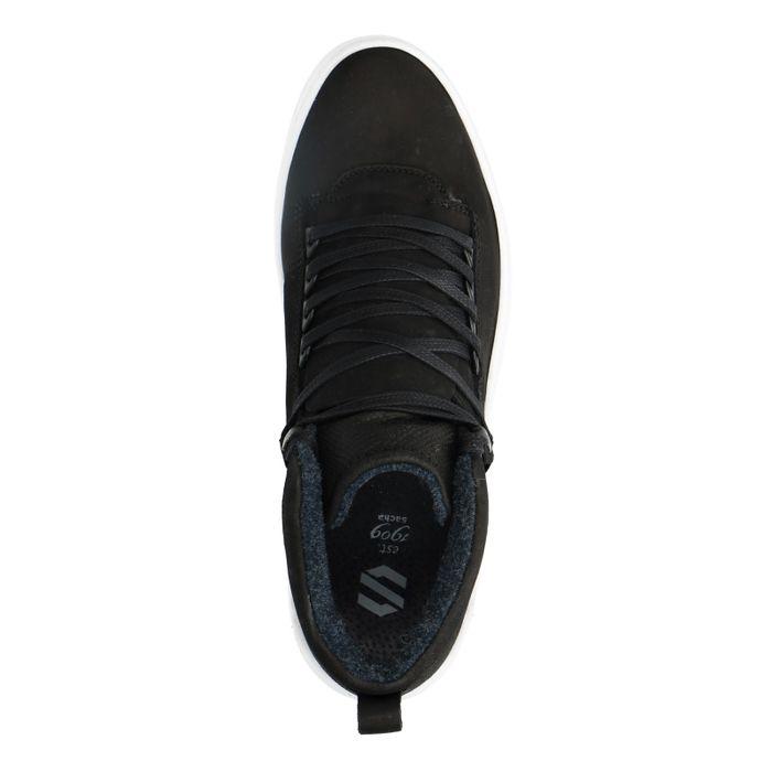 Hohe schwarze Sneaker aus Nubukleder