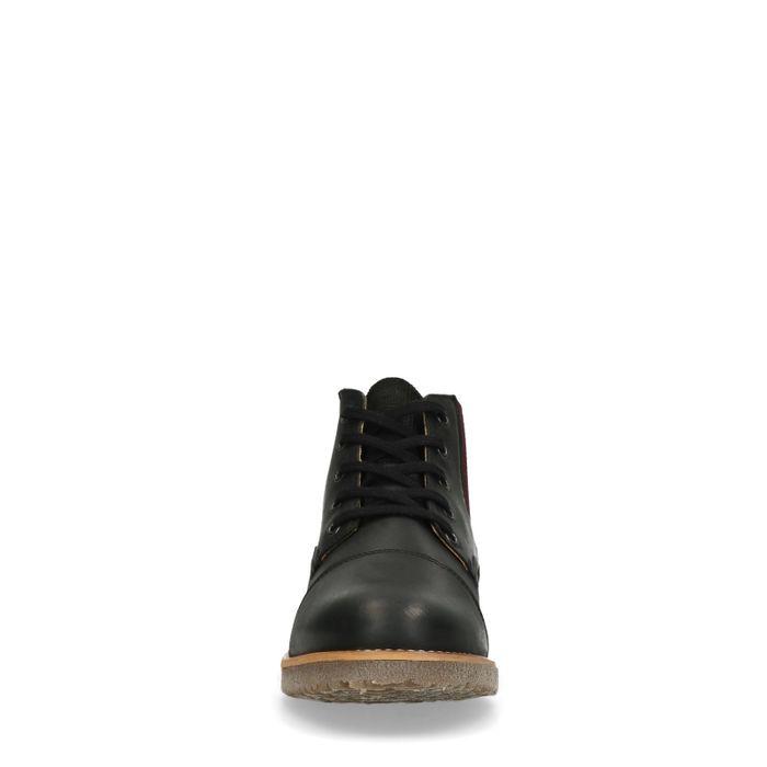 Schwarze Schnürstiefel aus Nubukleder