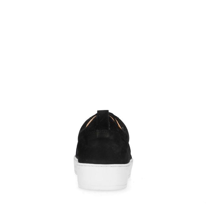 Schwarze Sneaker mit Krokomuster