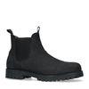 Schwarze waterproofChelsea Boots aus Nubukleder