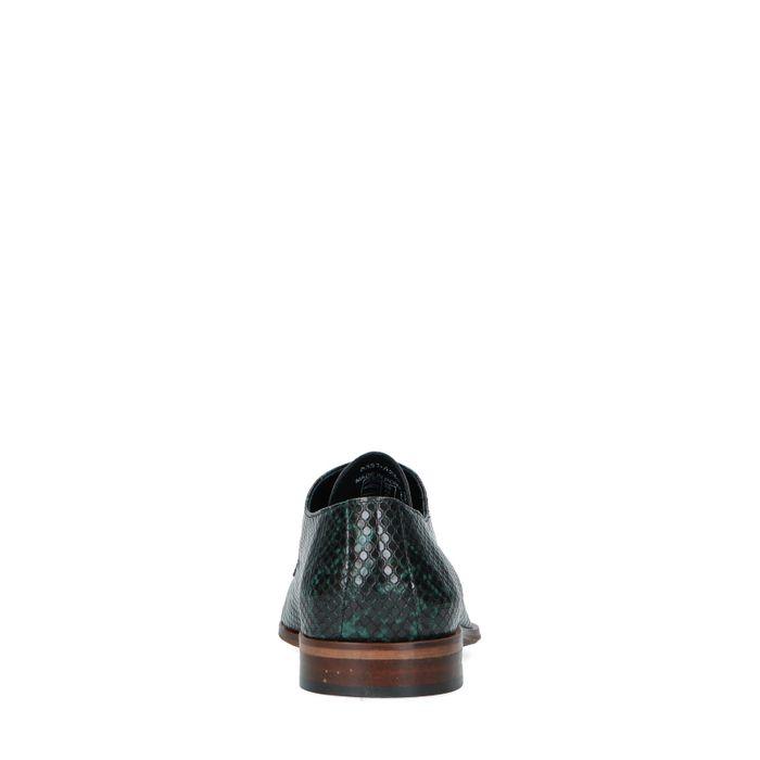 Grüne Leder-Schnürschuhe