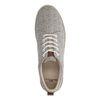 Beigefarbene Canvas-Sneaker mit Print