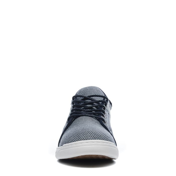 Graue Sneaker mit blauem Detail
