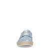 Blaue Schnürschuhe mit Kaktus-Print