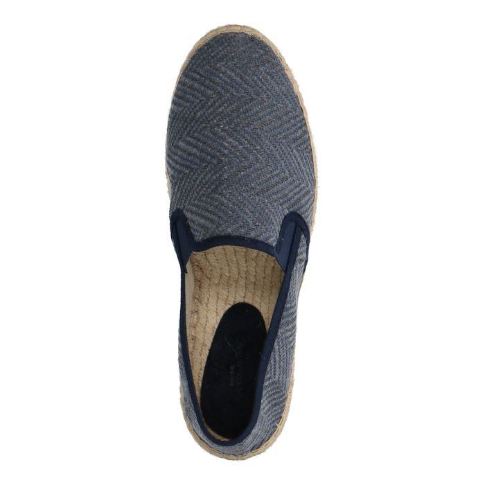 Blaue Slip-ons