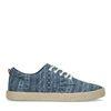 Blaue Canvas-Sneaker mit Print