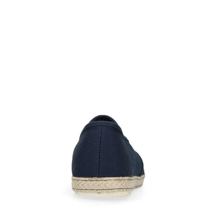 Dunkelblaue Loafer mit Jutesohle