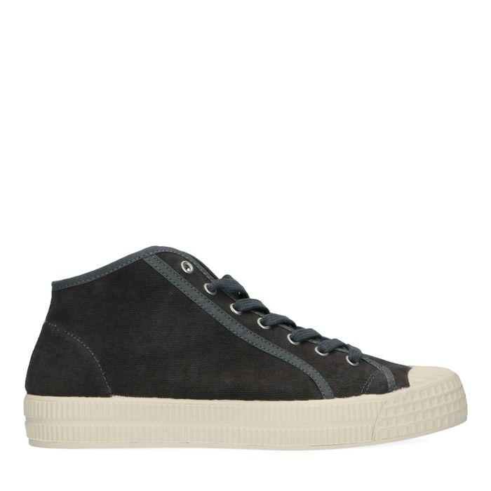 Dunkelgraue Canvas-Sneaker