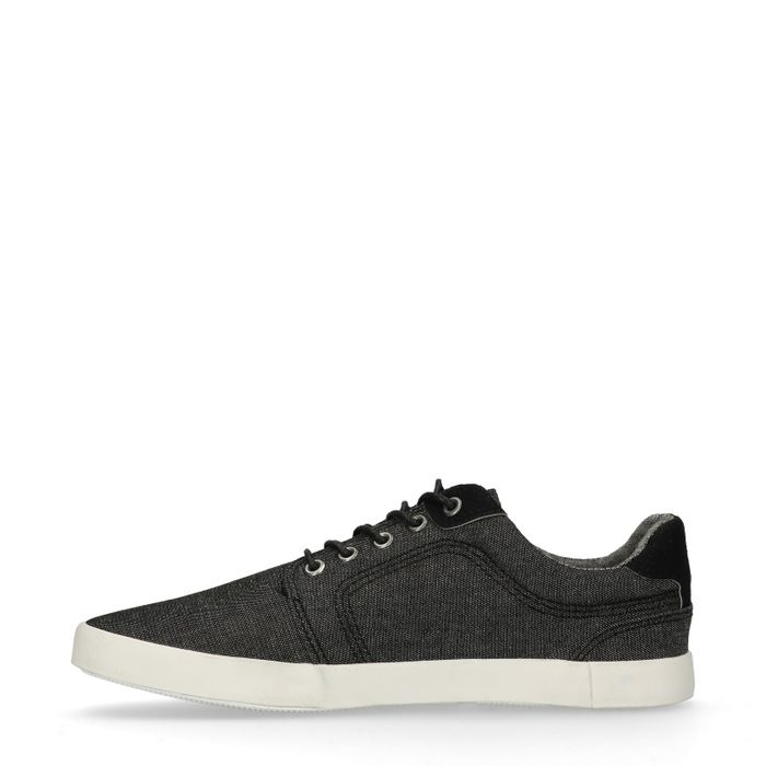 Schwarze Sneaker im Denim-Look