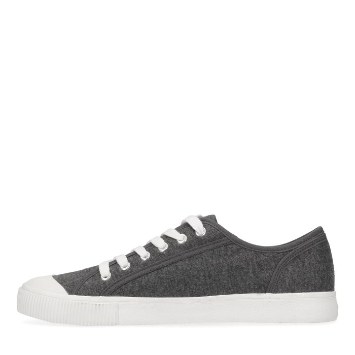Graue Sneaker mit weißer Sohle