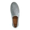 Graue Canvas-Loafer mit gewobener Jute-Sohle
