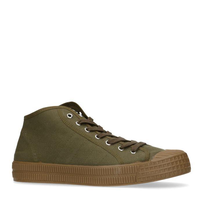 Dunkelgrüne Sneaker mit hohem Schaft