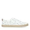 Weiße Canvas-Sneaker mit Print