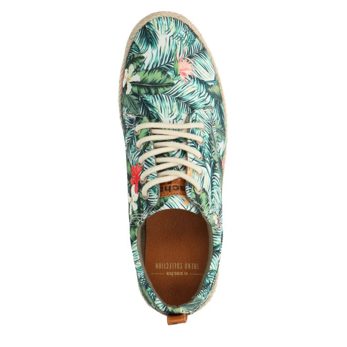 Sneaker mit Blumenmuster