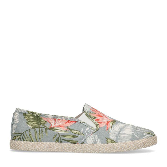Slipper mit tropischem Muster
