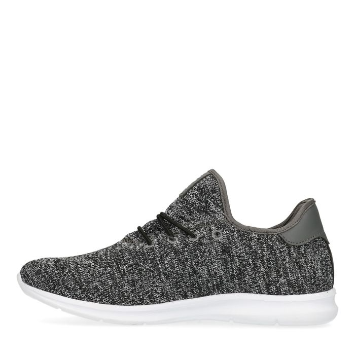 Schwarz melierte Sneaker