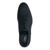 Schwarze Schnürschuhe mit blauen Details