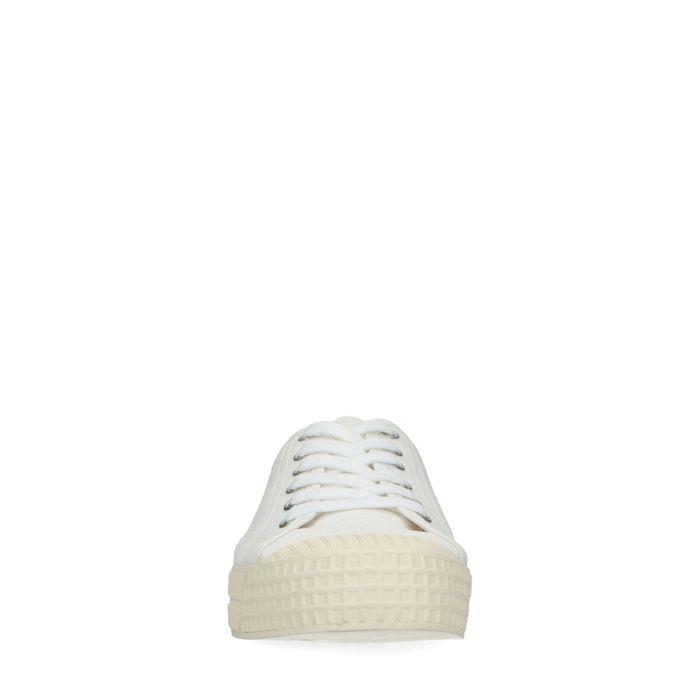 Weiße Canvas-Sneaker