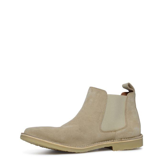 Beigefarbene Chelsea Boots