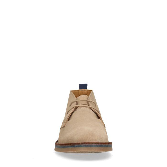 Beigefarbene Desert Boots