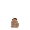 Beigefarbene Veloursleder-Schnürschuhe