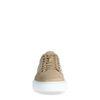 Beigefarbene Veloursleder-Sneaker