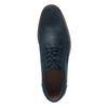 Blaue Schnürschuhe aus Veloursleder