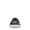 Dunkelblaue Sandalen mit gekreuzten Riemchen